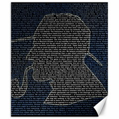 Sherlock Quotes Canvas 20  X 24   by Mariart