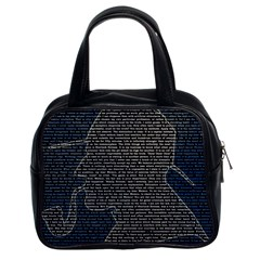Sherlock Quotes Classic Handbags (2 Sides) by Mariart