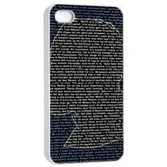 Sherlock Quotes Apple Iphone 4/4s Seamless Case (white) by Mariart