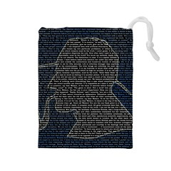 Sherlock Quotes Drawstring Pouches (large)  by Mariart