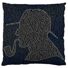 Sherlock Quotes Large Flano Cushion Case (one Side) by Mariart