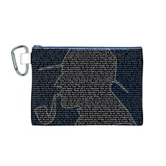 Sherlock Quotes Canvas Cosmetic Bag (m) by Mariart