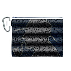 Sherlock Quotes Canvas Cosmetic Bag (l) by Mariart