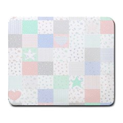 Sweet Dreams Rag Quilt Large Mousepads by Mariart