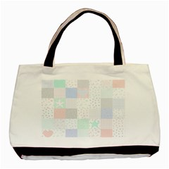 Sweet Dreams Rag Quilt Basic Tote Bag by Mariart