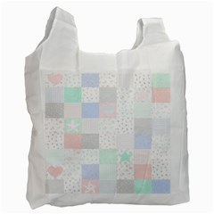 Sweet Dreams Rag Quilt Recycle Bag (one Side)