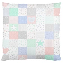 Sweet Dreams Rag Quilt Large Cushion Case (two Sides) by Mariart