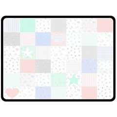 Sweet Dreams Rag Quilt Double Sided Fleece Blanket (large)  by Mariart