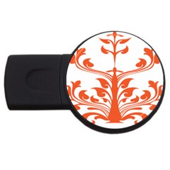 Tree Leaf Flower Orange Sexy Star Usb Flash Drive Round (2 Gb) by Mariart