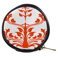Tree Leaf Flower Orange Sexy Star Mini Makeup Bags by Mariart