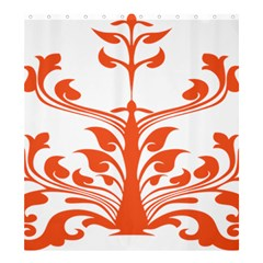 Tree Leaf Flower Orange Sexy Star Shower Curtain 66  X 72  (large)  by Mariart