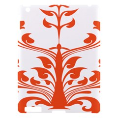 Tree Leaf Flower Orange Sexy Star Apple Ipad 3/4 Hardshell Case by Mariart