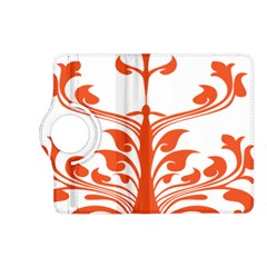 Tree Leaf Flower Orange Sexy Star Kindle Fire Hd (2013) Flip 360 Case by Mariart