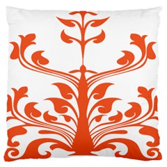 Tree Leaf Flower Orange Sexy Star Large Flano Cushion Case (two Sides) by Mariart