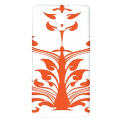 Tree Leaf Flower Orange Sexy Star Galaxy Note 4 Back Case by Mariart