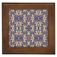 Multicolored Modern Geometric Pattern Framed Tiles by dflcprints