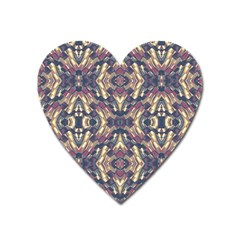 Multicolored Modern Geometric Pattern Heart Magnet by dflcprints