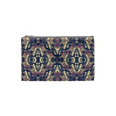 Multicolored Modern Geometric Pattern Cosmetic Bag (small)  by dflcprints