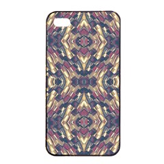 Multicolored Modern Geometric Pattern Apple Iphone 4/4s Seamless Case (black) by dflcprints