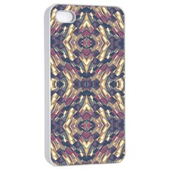 Multicolored Modern Geometric Pattern Apple Iphone 4/4s Seamless Case (white) by dflcprints