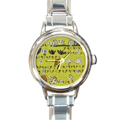 Horror Vampire Kawaii Round Italian Charm Watch by Nexatart
