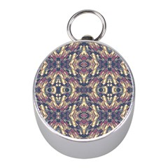 Multicolored Modern Geometric Pattern Mini Silver Compasses by dflcprints