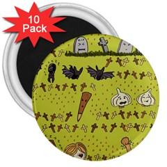 Horror Vampire Kawaii 3  Magnets (10 Pack)  by Nexatart