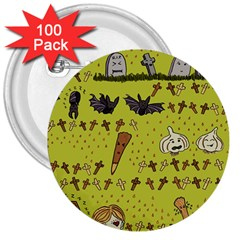 Horror Vampire Kawaii 3  Buttons (100 Pack)  by Nexatart