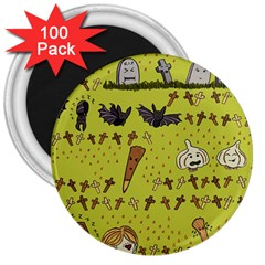 Horror Vampire Kawaii 3  Magnets (100 Pack)