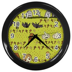 Horror Vampire Kawaii Wall Clocks (black)