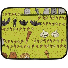 Horror Vampire Kawaii Fleece Blanket (mini) by Nexatart