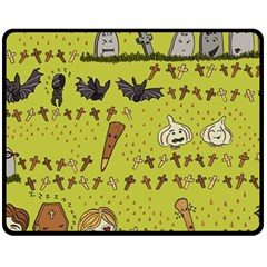 Horror Vampire Kawaii Fleece Blanket (medium)  by Nexatart