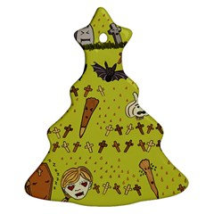 Horror Vampire Kawaii Christmas Tree Ornament (two Sides) by Nexatart