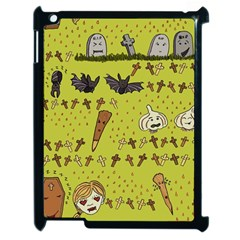 Horror Vampire Kawaii Apple Ipad 2 Case (black) by Nexatart