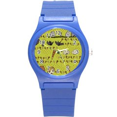 Horror Vampire Kawaii Round Plastic Sport Watch (s) by Nexatart