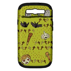 Horror Vampire Kawaii Samsung Galaxy S Iii Hardshell Case (pc+silicone) by Nexatart