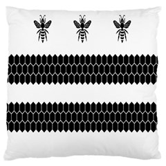 Wasp Bee Hive Black Animals Large Flano Cushion Case (one Side) by Mariart
