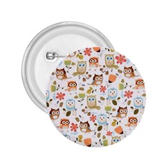 Cute Owl 2 25  Buttons