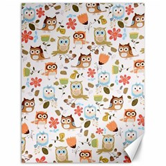 Cute Owl Canvas 12  X 16   by Nexatart