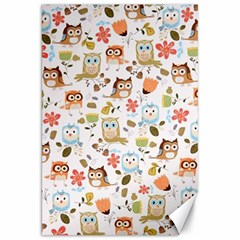 Cute Owl Canvas 20  X 30   by Nexatart