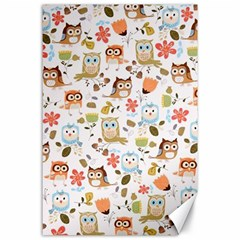 Cute Owl Canvas 24  X 36