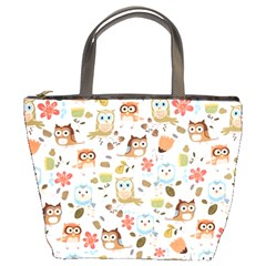 Cute Owl Bucket Bags by Nexatart