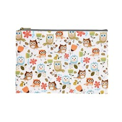 Cute Owl Cosmetic Bag (large)  by Nexatart