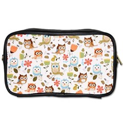 Cute Owl Toiletries Bags 2 Side by Nexatart