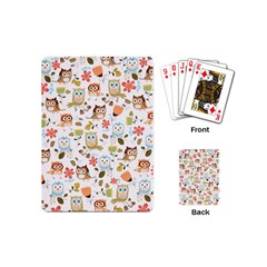 Cute Owl Playing Cards (mini)  by Nexatart