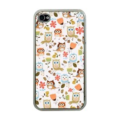 Cute Owl Apple Iphone 4 Case (clear) by Nexatart