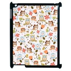 Cute Owl Apple Ipad 2 Case (black) by Nexatart