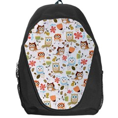 Cute Owl Backpack Bag by Nexatart