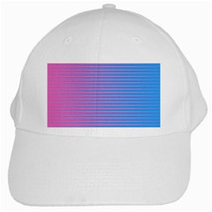 Turquoise Pink Stripe Light Blue White Cap by Mariart