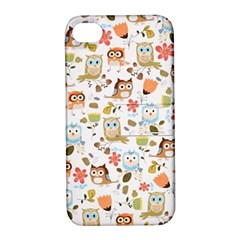 Cute Owl Apple Iphone 4/4s Hardshell Case With Stand